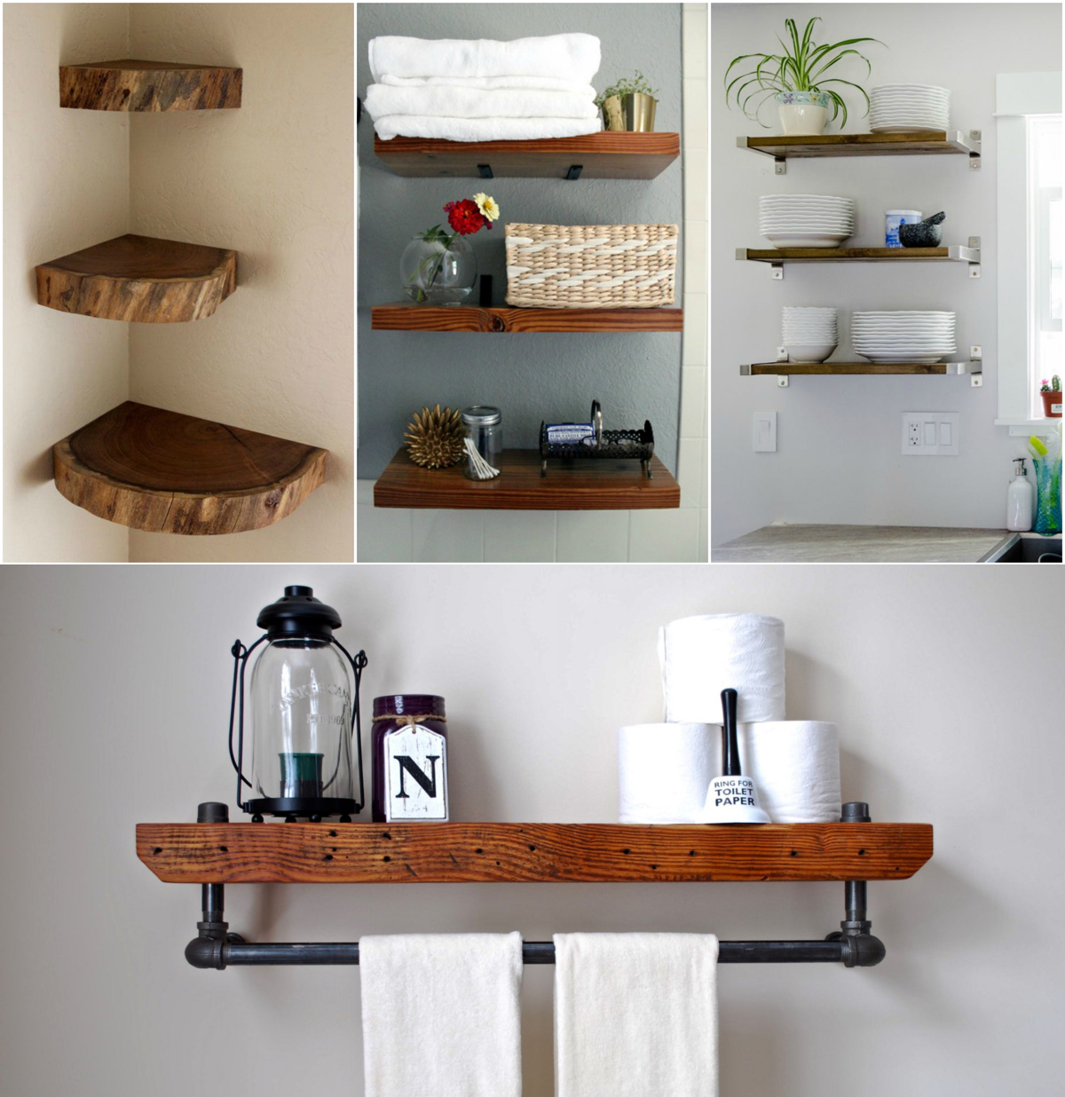 Oak-wooden-floating-shelves