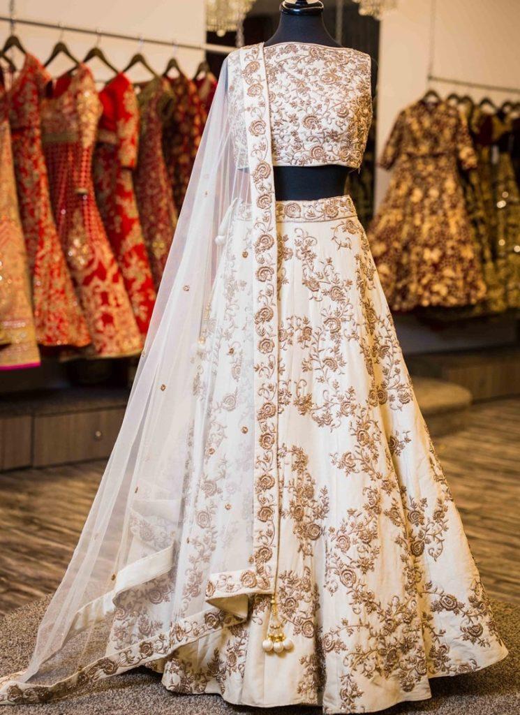 lehenga-off-white-jacquard-silk-choli